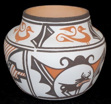 38: Contemporary Zuni Pottery Vessel
