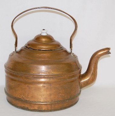 43: Antique Copper Teapot