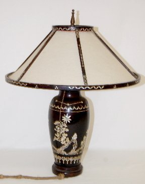 44: Table Lamp with Shell Inlay