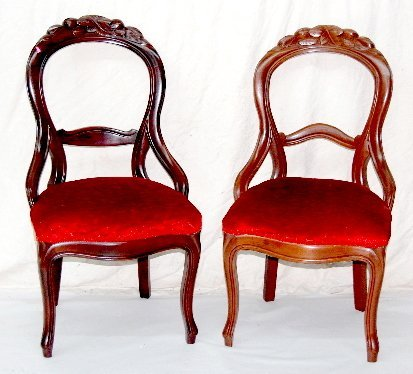 47: Pair of Victorian Walnut Parlor Chairs
