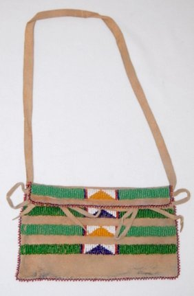 Beaded Possibles Bag, Northern Plains