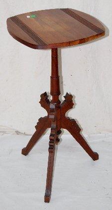 107F: Walnut Tripod Leg Plant Stand