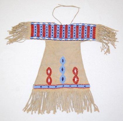 108: Cherokee Child's Beaded Leather Dress
