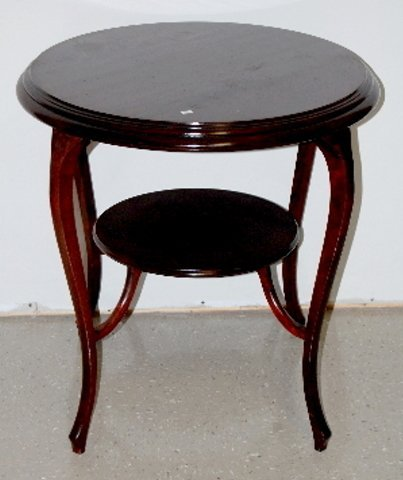 119: Antique Flame Mahogany Round Parlor Table