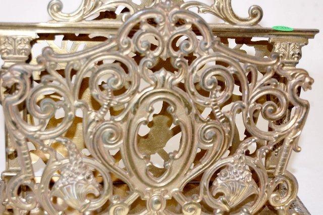 230: B & H Ornate Brass Magazine Rack - 2