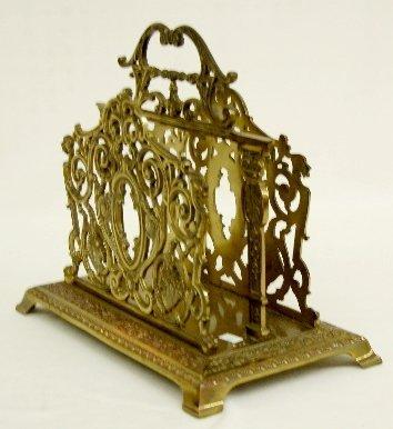 230: B & H Ornate Brass Magazine Rack - 3