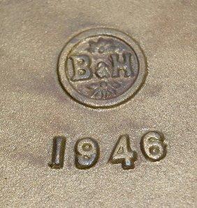 230: B & H Ornate Brass Magazine Rack - 4