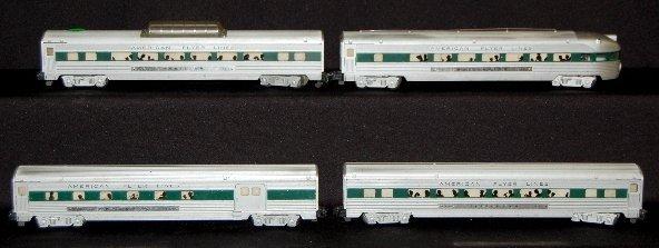 283: American Flyer 4 Piece Passenger Train