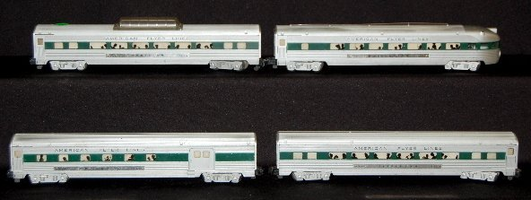 283: American Flyer 4 Piece Passenger Train