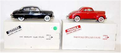 277: 2 Die Cast Metal Cars: Mercury & Ford Coupe