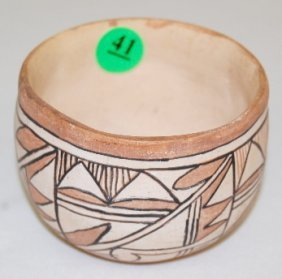 Pottery Bowl With Geometric Designs