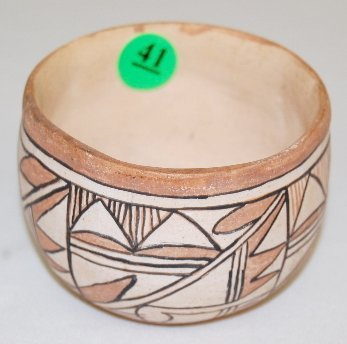 41: Pottery Bowl With geometric Designs