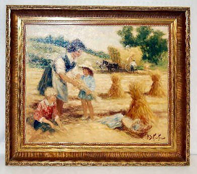 175: Pierre-Eugene Duteurtre Painting on Canvas