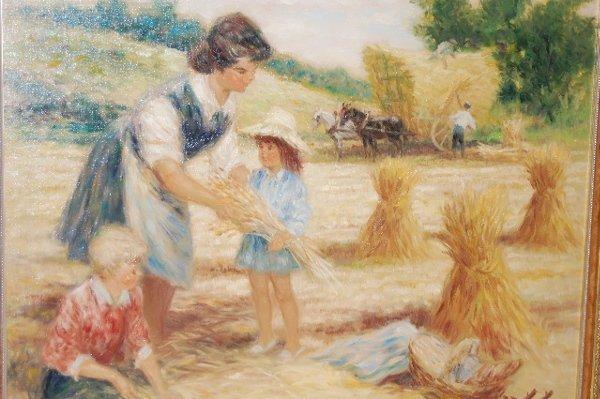 175: Pierre-Eugene Duteurtre Painting on Canvas - 2