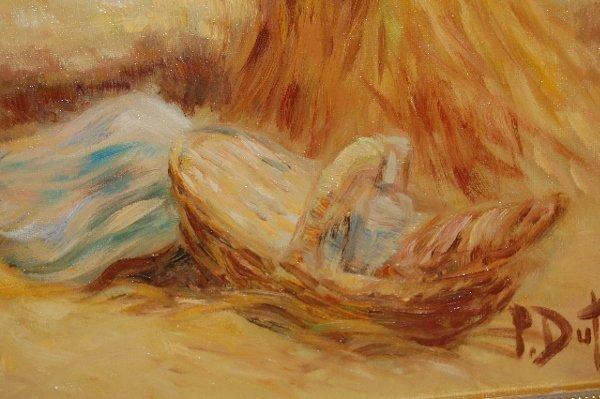 175: Pierre-Eugene Duteurtre Painting on Canvas - 5