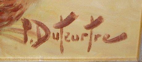 175: Pierre-Eugene Duteurtre Painting on Canvas - 6