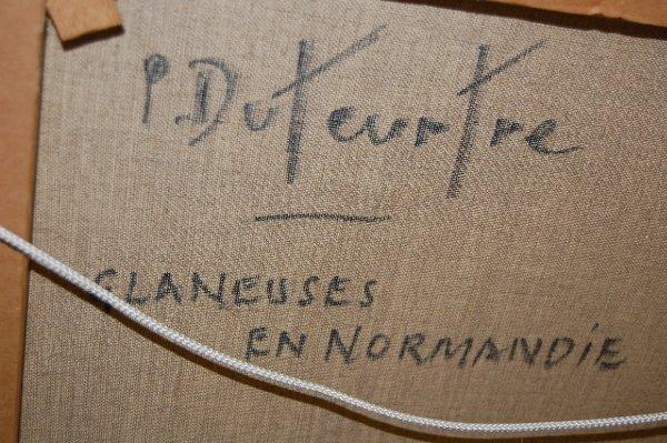 175: Pierre-Eugene Duteurtre Painting on Canvas - 7