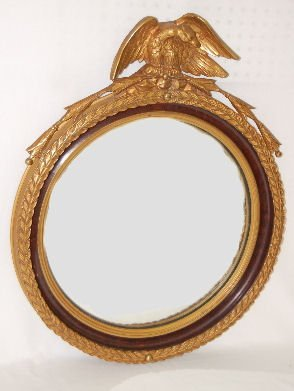 110F: Hanging Mirror with Eagle Top