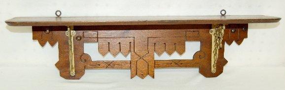 110B: Victorian Eastlake Small Wall Shelf