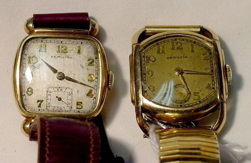 503: 2 Hamilton Man's Wrist Watches in g.f. Cases NR