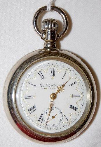 9: Elgin Nat'l 11J, 18S, SW & S, OF Pocket Watch