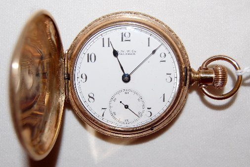 10: AWW Co. 11J, 18S, Full, GF, HC Pocket Watch
