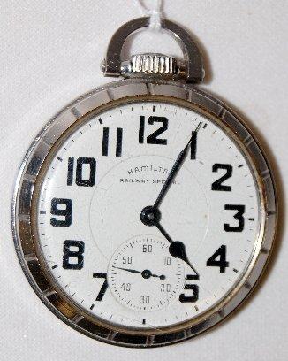 12: Hamilton 992B, 21J, 16S, 3/4, OF Pocket Watch