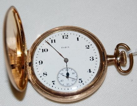 13: Elgin 16S, DMK, SW & S, GF, HC Pocket Watch