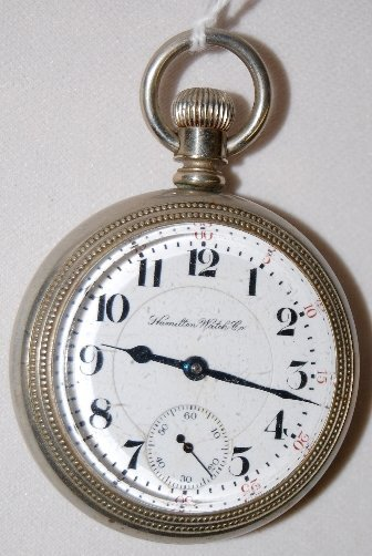 14: Hamilton 17J, 18S, DMK, OF Pocket Watch