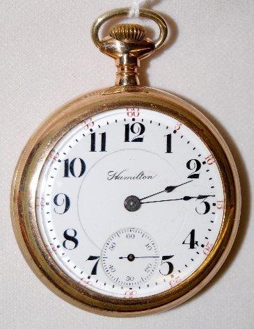 16: Hamilton 21J, 18S, LS, DMK, OF Pocket Watch
