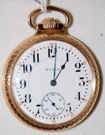 """19: Elgin 21J, Father Time"""", 16S, OF Pocket Watch"""