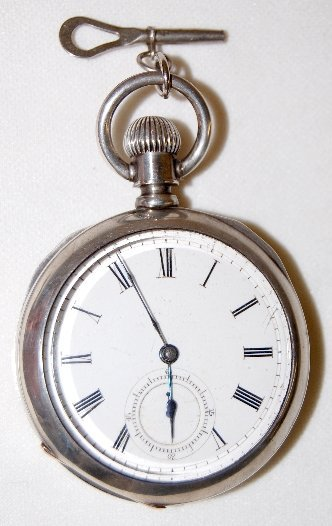 20: Columbia 18S, KW, OF Coin Silver Pocket Watch