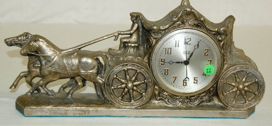 22: United Electric Horse and Carriage Clock