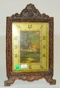 24: Deluxe Picture Frame Cabin Scene Clock