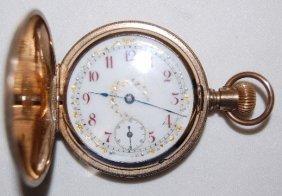 Columbus 7J, 18S, GF Hunting Case Pocket Watch