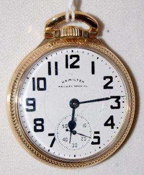 Hamilton 992B, 21J, 16S, GJS, OF Pocket Watch
