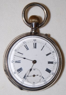 Remontoir 6J, 14S, OF Silver Pocket Watch