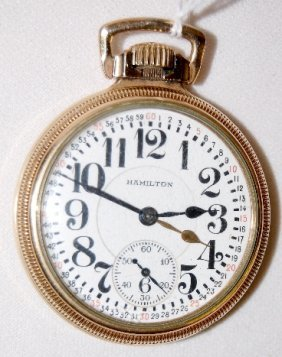 Hamilton 992, 21J, 16S, GJS, OF Pocket Watch