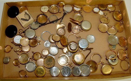 72: Group of Pocket Watch Case Parts & Pieces