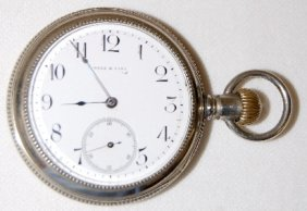 Weld & Sons 17J, 18S Display Pocket Watch