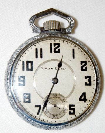 80: South Bend 211, 17J, 16S, OF Pocket Watch