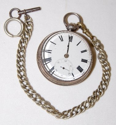 84: English Fusee Pocket Watch in A Sterling Case