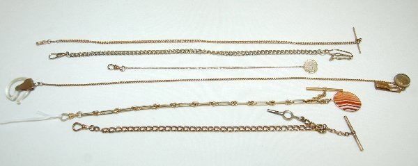 95: 6 Watch Chains, Assorted Styles and Lengths