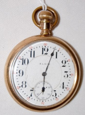 97: Elgin Veritas 21J, 16S, SW, OF Pocket Watch