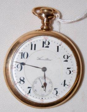 Hamilton 21J, 16S, LS, DMK, OF Pocket Watch
