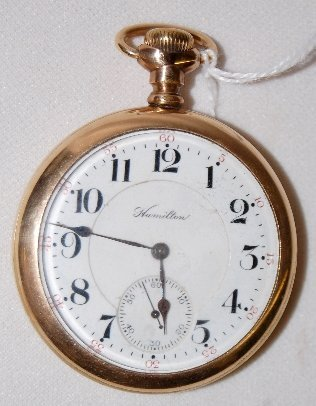 100: Hamilton 21J, 16S, LS, DMK, OF Pocket Watch