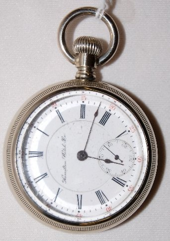 102: Hamilton 17J, 18S, LS, Full, OF Pocket Watch
