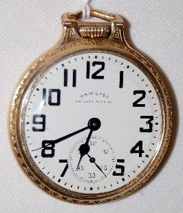 Hamilton 992B, 21J, 16S, LS, OF Pocket Watch