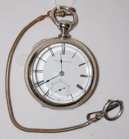 107: National W. Co. 11J, 18S, OF Pocket Watch