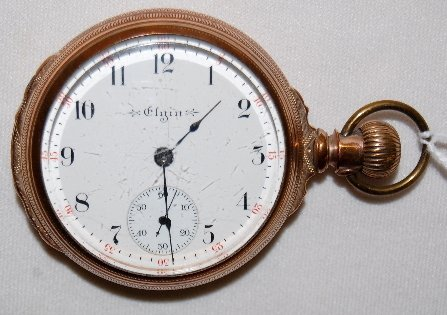 108: Elgin 15J, 18S, LS, Full, OF Pocket Watch